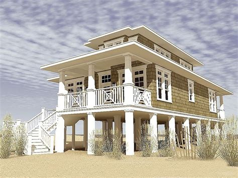Beach House Plans Pilings | narrow beach house designs narrow lot beach house plans