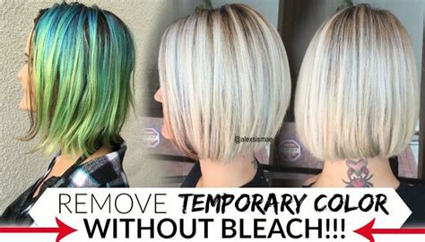 how to remove temporary hair colors like pravana manic