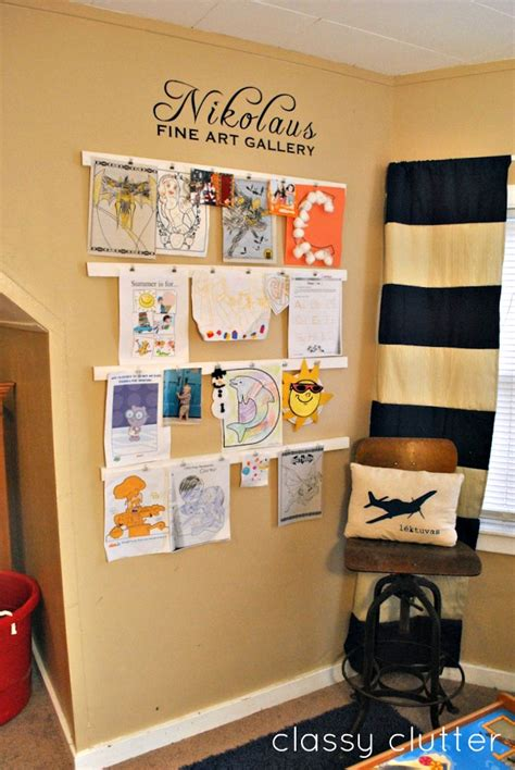 how to display art prints kids art gallery display classy clutter