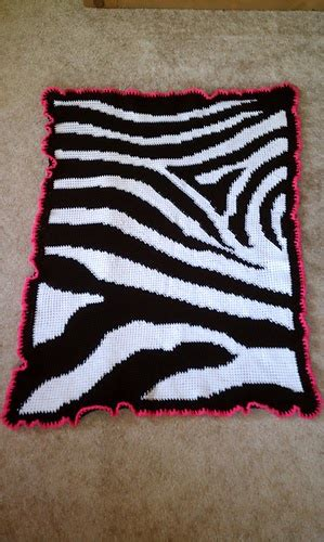 Zebra Print Baby Blankets by Craft Passions Zebra Print Baby Blanket Free Crochet