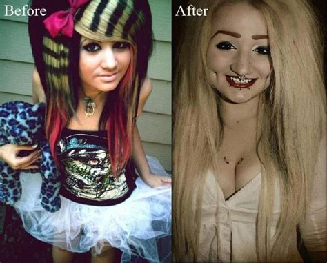 before and after emo haircut 49 best emo scene girls and boys images on pinterest