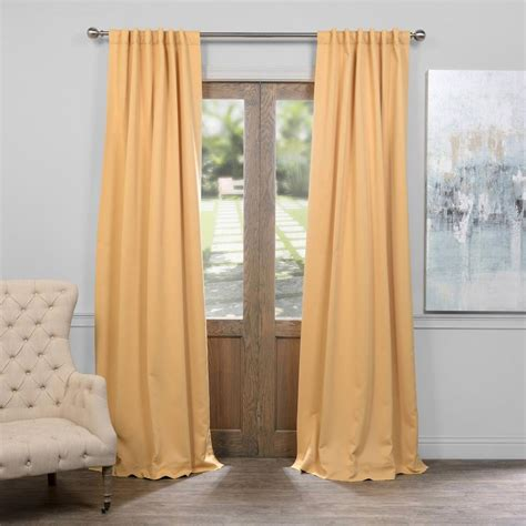 Gold Blackout Curtains Exclusive Fabrics Furnishings Midsummer Gold Blackout Curtain 50 In W X 108 In L Pair
