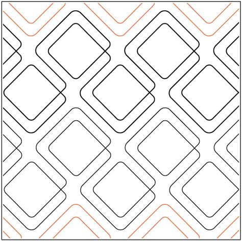 diagonal plaid bias cut quilting pantograph pattern by