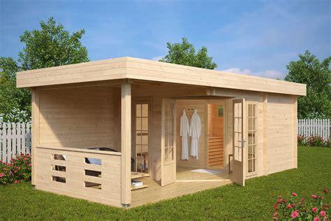 Outdoor Sauna Bauen by Gartensauna Modern Paula 12 5m 178 44mm 8x3 Hansagarten24