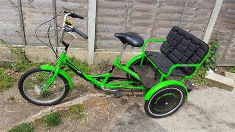 trike child carrier transporter 3 seater bike mission