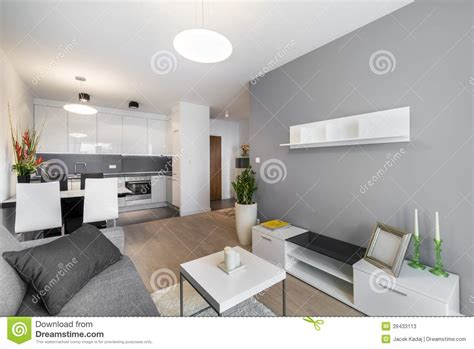interior design for small living room and kitchen modern interior design living room stock photo image
