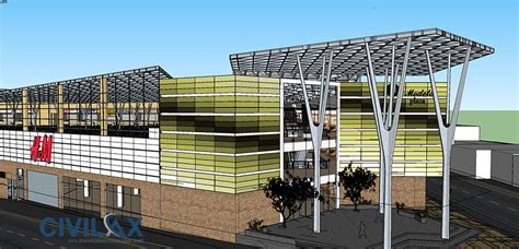 design center civil 3d sketchup 3d model of shopping center civil engineering
