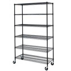 wire steel shelving 72 quot x48 quot x18 quot commercial 6 tier shelf adjustable steel wire