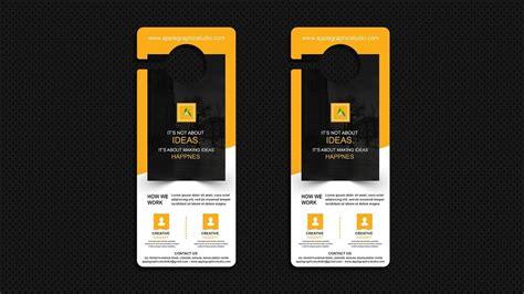 design mockup   door hanger photoshop cc