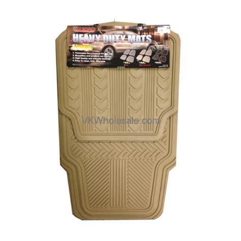 Floor Mats Wholesale by 4 Pcs Heavy Duty Car Mats Beige Wholesale Auto Floor Mats
