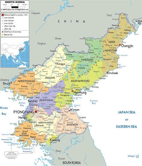 political map of korea political map of korea ezilon maps