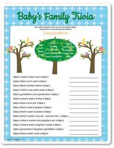 Free Printable Baby Shower With Answers by Printable Baby S Family Trivia Baby Shower