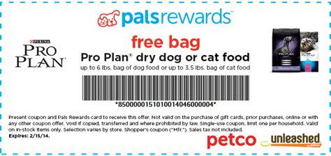 houseplans coupon code katy couponers free bag purina pro plan or cat food for petco members