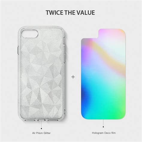 Ringke Air Iphone 7 Clear ringke air prism glitter skal till iphone 8 7 clear themobilestore