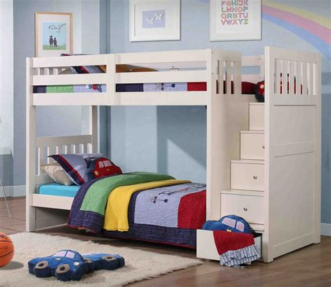 children bunk beds neutron children s bunk bed with stair storage