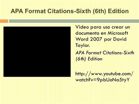 apa word template 6th edition apa style 6ta en espanol