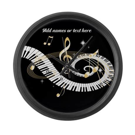 designer Musical notes Large Wall Clock by auslandgifts