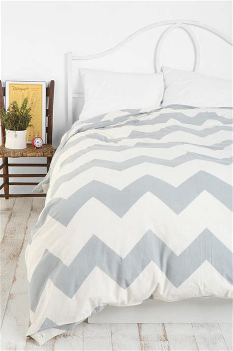 Zigzag Duvet Cover zigzag duvet cover gray contemporary duvet covers and duvet sets by outfitters