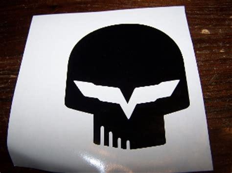 corvette racing decals corvette racing quot jake quot skull vinyl decal sticker