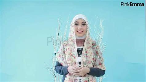 tutorial hijab pashmina pink emma tutorial hijab pashmina praktis dengan 1 pentul youtube