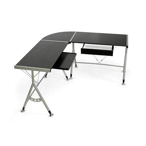 elburn brown l shaped modern computer desk 7092231 hsn