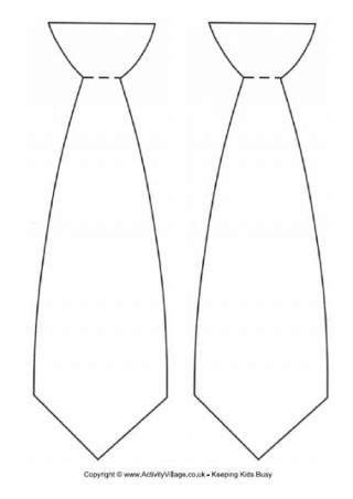 template for tie clothing printables