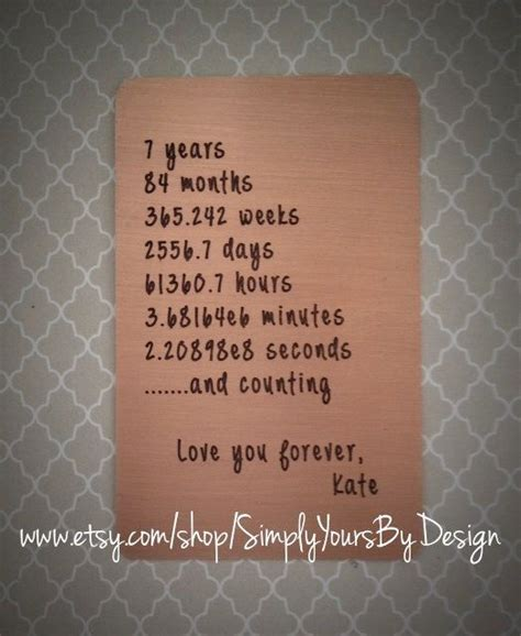 Wedding Anniversary Quotes 7 Years by Best 25 7 Year Anniversary Ideas On Gifts For