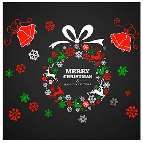 lovely christmas decor diy decal window sticker xmas party