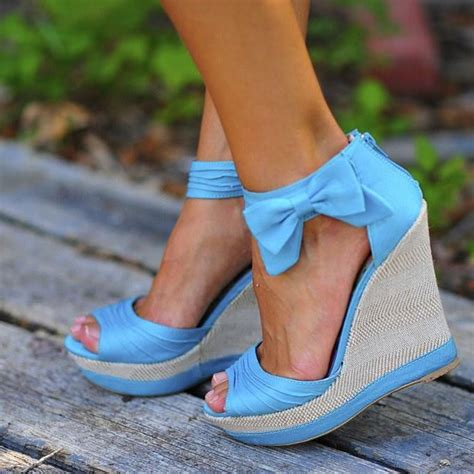 baby blue wedge heel shoe shoes i want