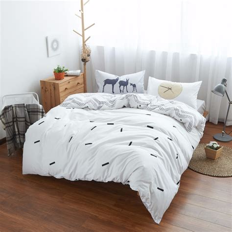 sheet and comforter sets 100 cotton deer time bedding set gray bed sheets white