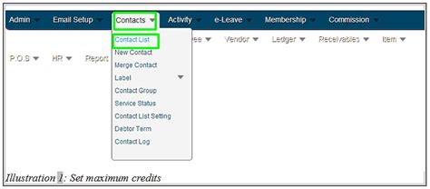 Maximum Credit Limit Formula How To Set Maximum Credit Limit For Contact Inventory