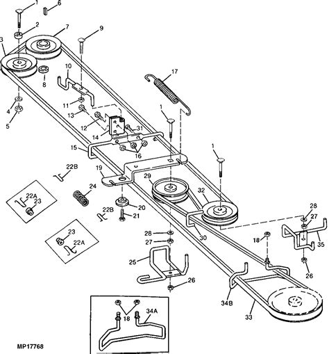 stx38 yellow deck mower belt diagram