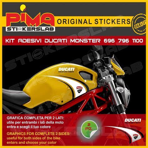 Ducati 796 Sticker by Adesivi Stickers Ducati Monster 695 696 796 1100 Carena