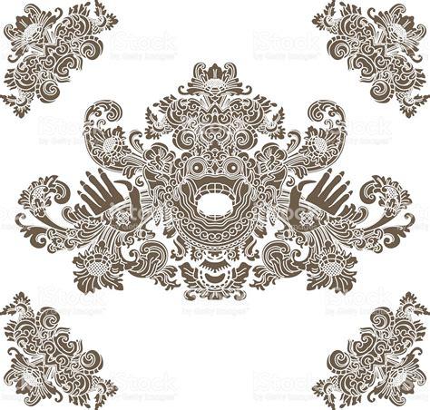 design undangan batik vector mythological god balinese tradition barong stock vector