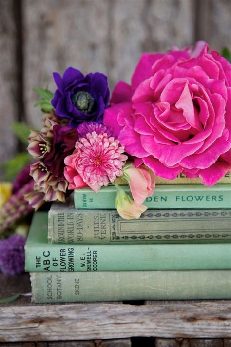 flower books beautiful livres and flower on