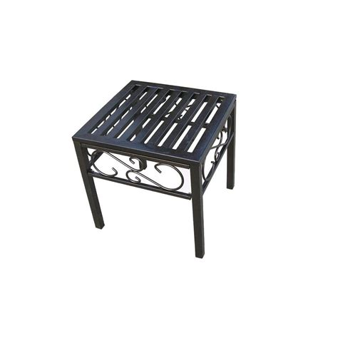 Cast Iron Patio Table Oakland Living Rochester End Patio Table 6129 Hb The Home Depot