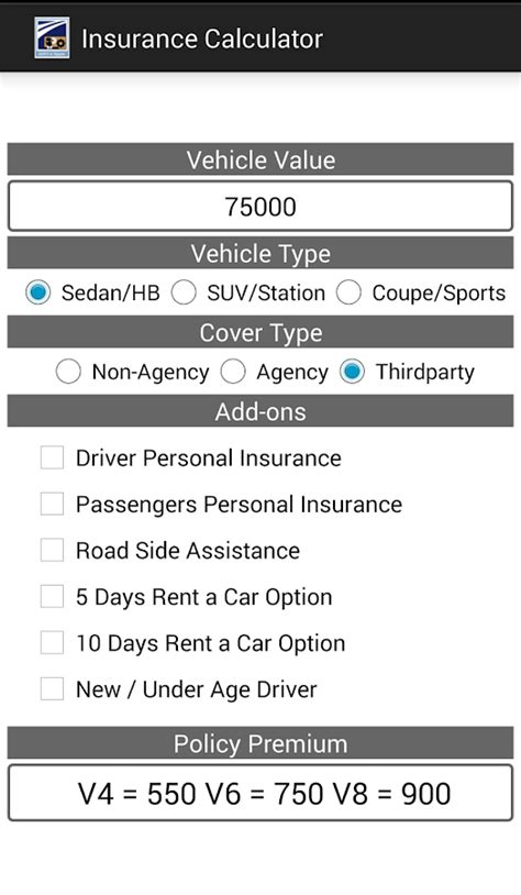 Car Insurance Calculator by Insurance Calculator Auto Android Apps On Play