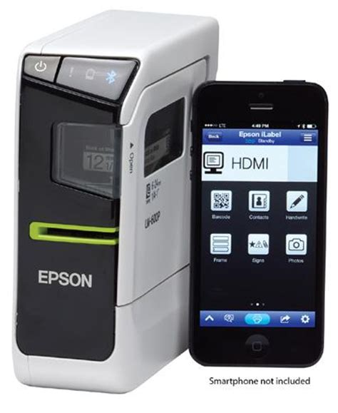 Epson Lw 600p Labelworks Portable Compact Label Printer epson labelworks lw 600p app enabled portable label