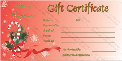 printable gift certificates for christmas doc 792612 christmas certificates templates free