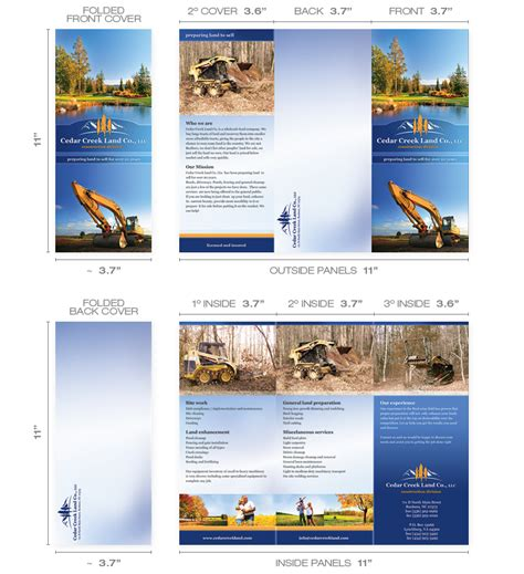 Tri Fold Brochures Design Sles Templates Information Self Mailer Postcard Template