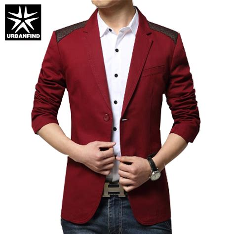 Blazer Jaket Sintetis Casual sale new sping fashion brand blazer casual suit jacket splice slim fit suits two