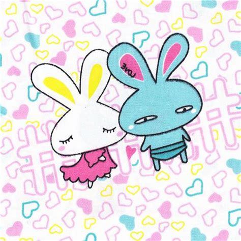 imagenes kawai en hd love bunny fabric kawaii hearts bunnies 0 5m kawaii