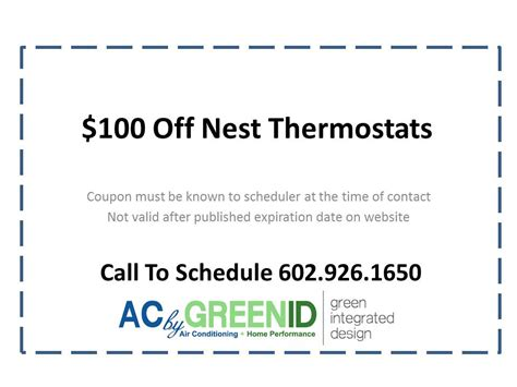 Nest thermostat rebate coupon   Green ID   Green Integrated Design