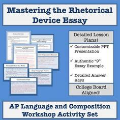 ap language and composition rhetorical analysis essay sle author s craft rhetorical devices anchor chart