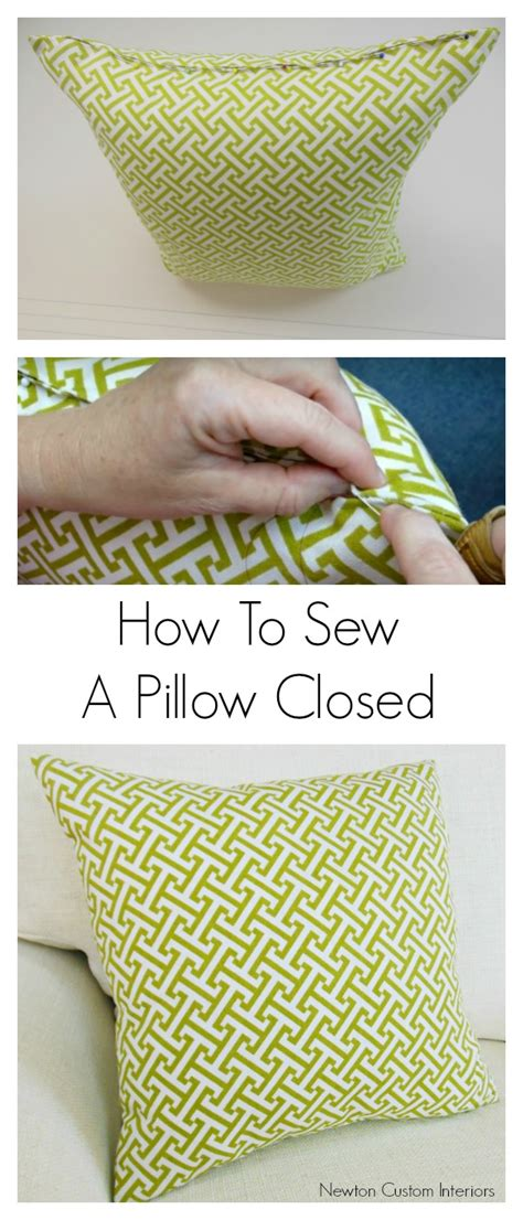 How To Stitch A Pillow Closed by Sew A Pillow Closed An Easy Tutorial