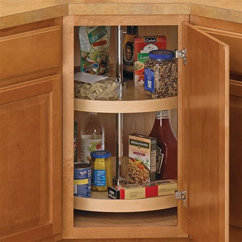 24 inch cabinet lazy susan wood in cabinet