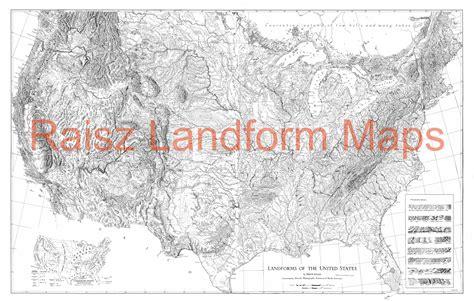 usa landform map landforms of the united states raisz landform maps