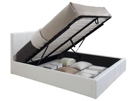 lit vente lit coffre tremplin ii 3 tailles simili blanc gris ou noir