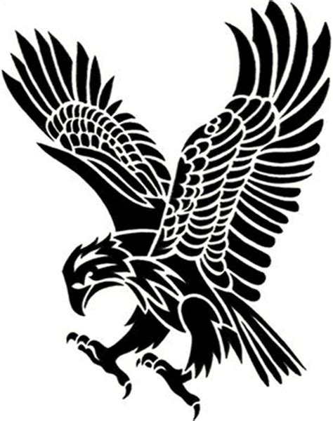 tribal eagle tattoos tribal eagle clipart best