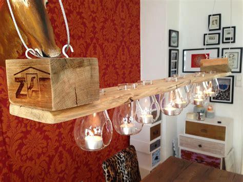 kronleuchter mit teelichtern teelicht leuchter aus palettenholz bienenwachsfinish